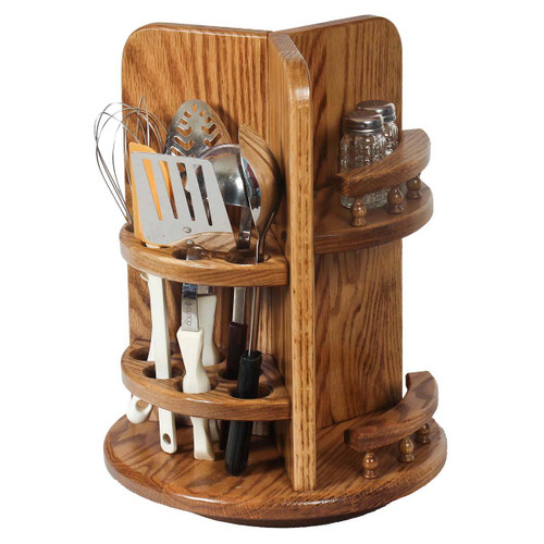 Kitchen Utensil Lazy Susan (with Paper Towel Holder & Spice Rack)