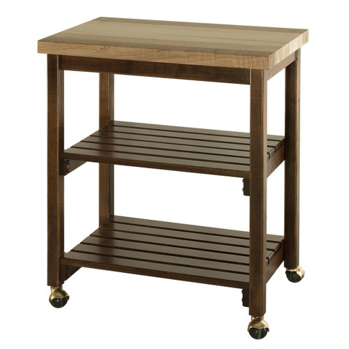 Microwave & Serving Cart (Butcher Block Top)