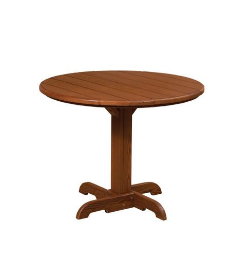 Cedar Single Pedestal Table