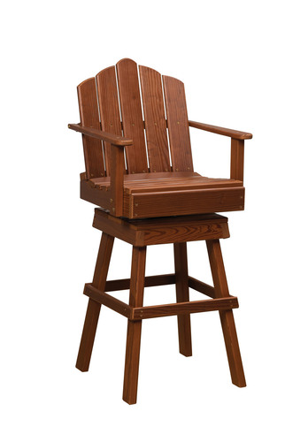 Cedar Captain's Swivel Chair