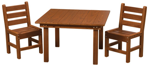 Cedar Kids Table & Chairs Set