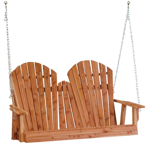 Cedar Adirondack Porch Swing