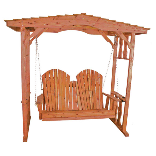 Cedar Adirondack Loveseat Swing with Arbor