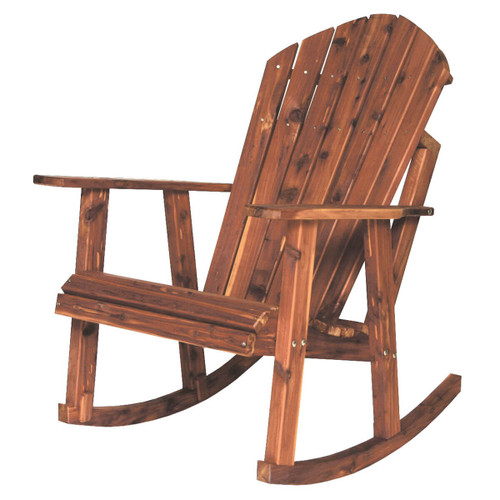 Cedar Adirondack Rocking Chair