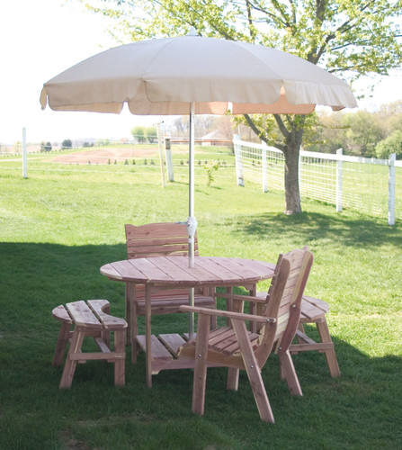 "48"" Cedar Picnic Table (Round)"