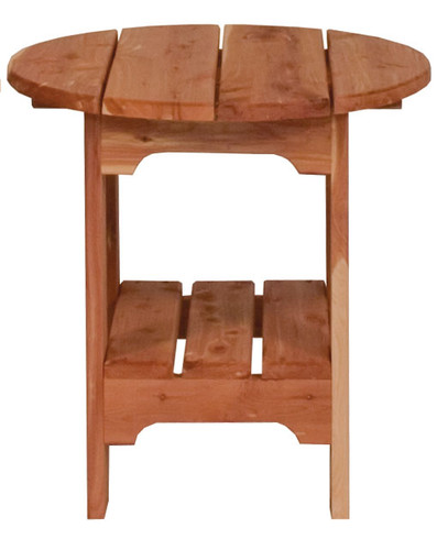 Cedar End Table (Round)