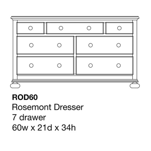 "Rosemont 60"" Dresser"