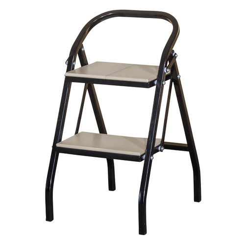 Folding Step Stool (Poly with Metal Base)