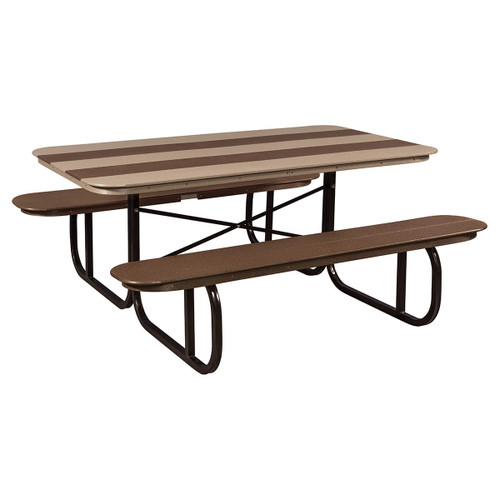 Picnic Table (Poly with Metal Base)