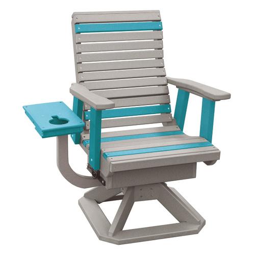Polywood Roll Back Swivel Rocker Chair