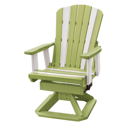 Polywood Fan Back Swivel Rocker Chair