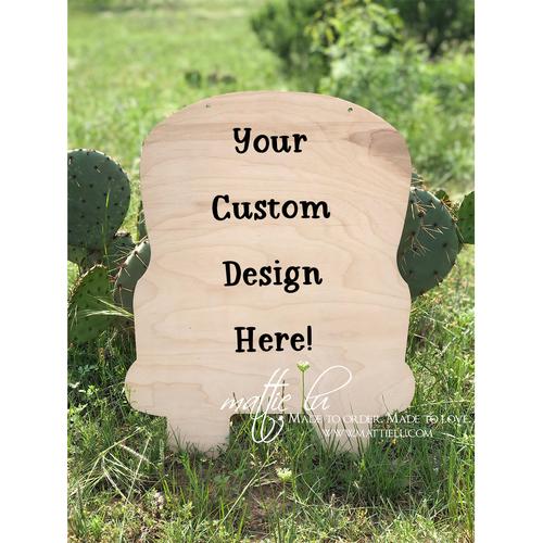 Truck Door Hanger |  Custom Door Hanger | Personalized Decorative Door Hangers