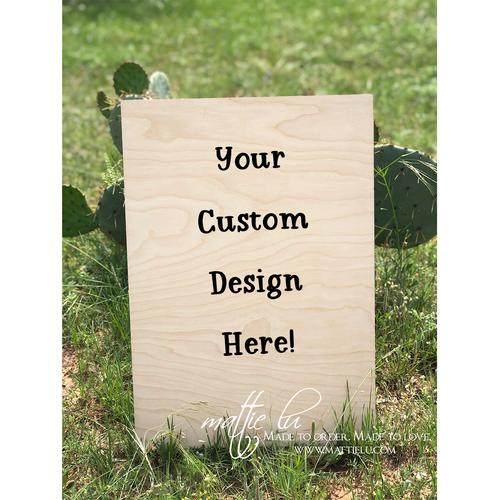 Rectangle Door Hanger |  Custom Door Hanger | Personalized Outdoor Wooden Signs