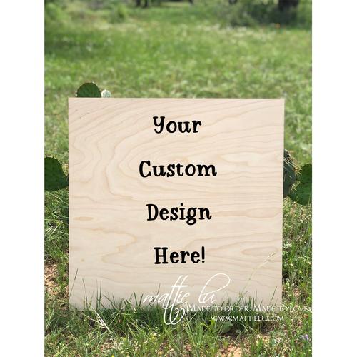 Square Door Hanger |  Custom Door Hanger | Personalized Outdoor Wooden Signs