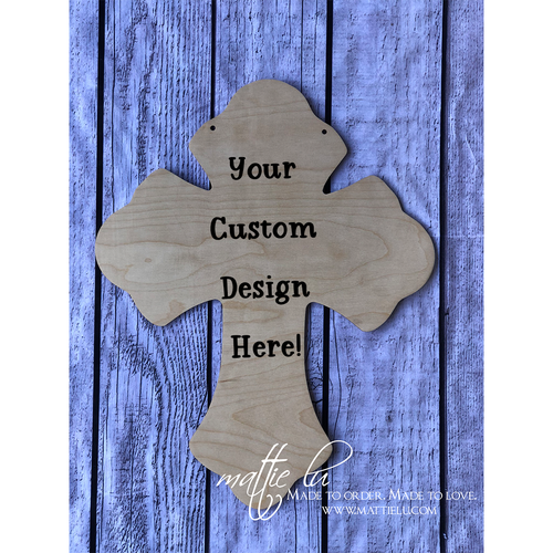 Cross Door Hanger |  Custom Door Hanger | Personalized Easter Gifts