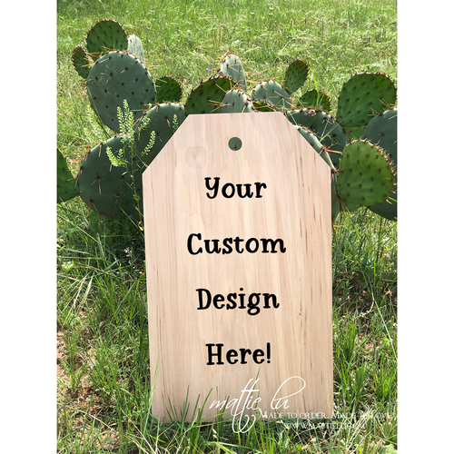 Tag Door Hanger |  Custom Door Hanger | Personalized Home Gifts