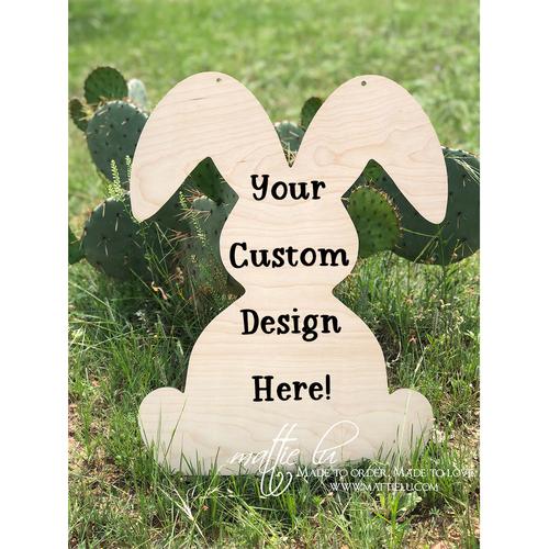 Rabbit Door Hanger |  Custom Door Hanger | Personalized Easter Gifts