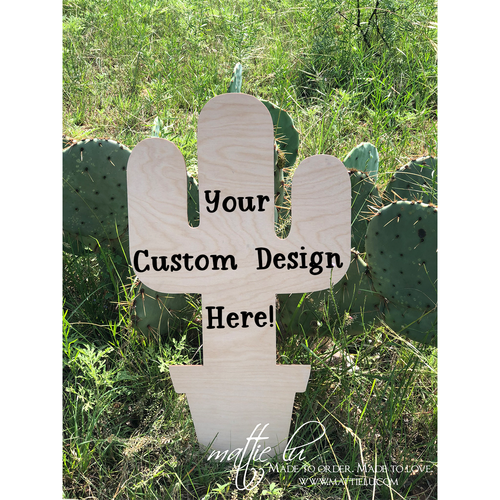 Cactus Door Hanger | Cactus Decor | Custom Door Hanger