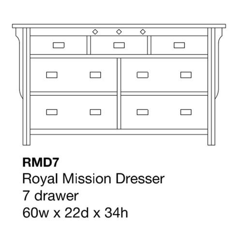 """Royal Mission 60"""" Dresser"""