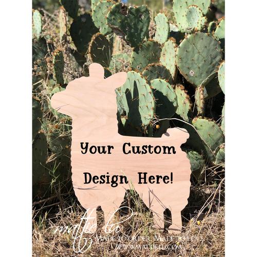 Llama Door Hanger | Custom Door Hanger | Personalized Front Porch Decorations
