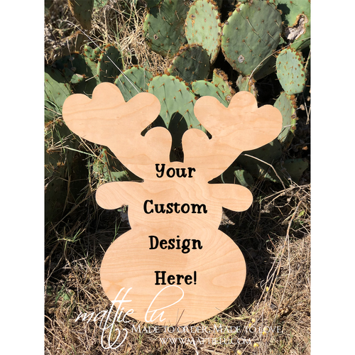 Reindeer Door Hanger | Christmas Door Hanger  | Decorative Front Door Hangers