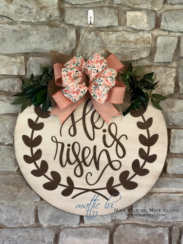 Easter Door Decor | He Is Risen | Spring Door Decorations