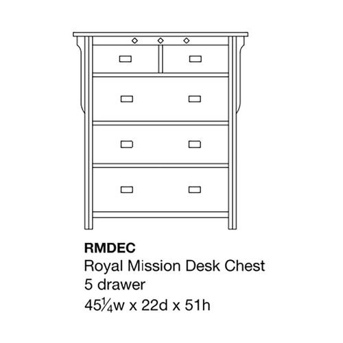 Royal Mission Desk Chest