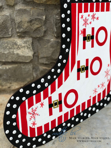 Christmas Front Door Decor| Stocking Decor| Ho Ho Ho Stocking Door Hanger| Ho Ho Ho Door Decor