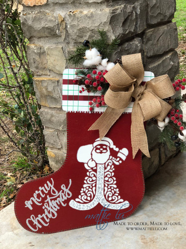 Christmas Front Door Decor| Merry Christmas Stocking| Santa Stocking| Merry Christmas Santa Door Hanger| Santa Door Hanger| Santa Merry Christmas Door Decor