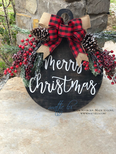 Christmas Front Door Decor|  Christmas Ornament Door Decor| Merry Christmas Door Hanger| Merry Christmas Ornament | Merry Christmas