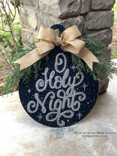 Christmas Front Door Decor| Christmas Ornament Door Decor| O Holy Night Door Hanger| O Holy Night Ornament