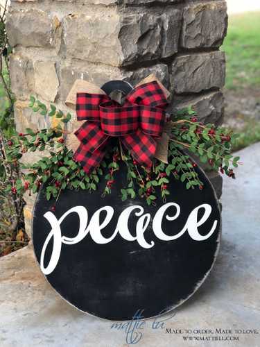 Christmas Front Door Decor| Ornament Peace Door Hanger| Christmas Peace Door Hanger| Ornament Door Decor|Christmas Ornament Door Hanger