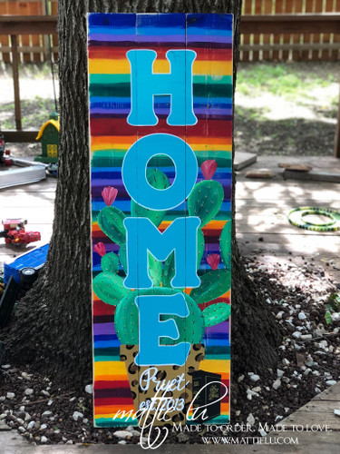 Personalized Front Porch Sign| Custom Front Porch Decor| Serape Sign| Front Porch Sign| Home| Home Porch Sign| Front Porch Name Sign