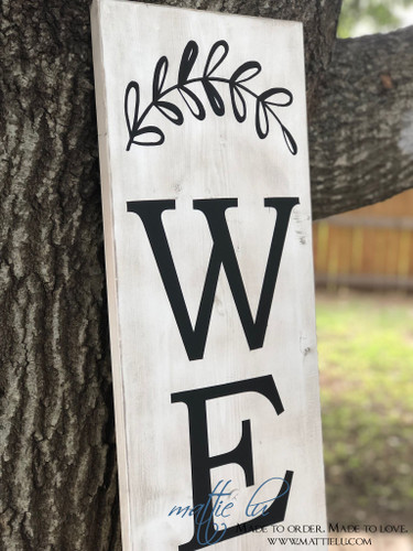Front Porch Welcome Sign| Front Porch Decor| White Wash Welcome Sign| Simple Welcome Porch Decor