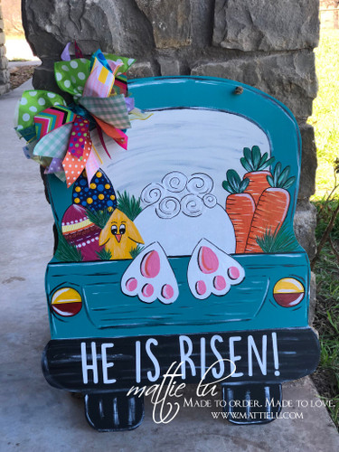 Custom Door Decor| Truck Door Hanger| He Is Risen| Easter Decor| Easter Door Hanger| He Is Risen Truck| Easter Truck