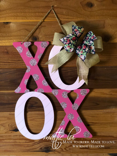 Valentine's Day Door Decor| XOXO Door Hanger| Polka Dot XOXO| Pink XOXO| Red XOXO
