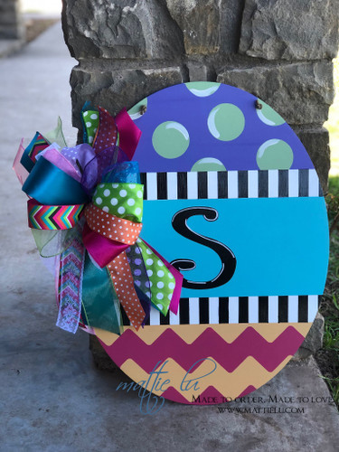 Easter Door Decor| Easter Egg| Custom Easter Egg| Oval Door Hanger| Easter Egg Door Hanger| Initial Egg Door Hanger