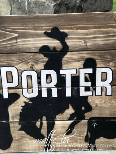 Custom Name Sign| Rectangle Signs| Rodeo Decor