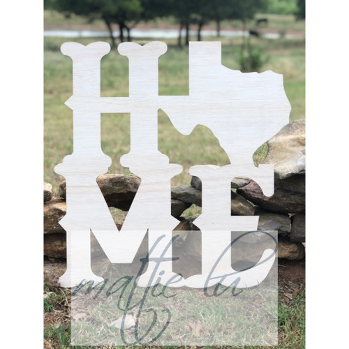 Texas Home Door Hanger | Custom Door Hanger | Personalized Front Door Decor