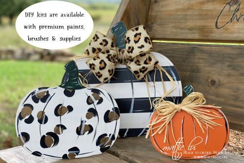 Pumpkin Wood Cutout | Unfinished Wood Pumpkin Set of 3 | Standing Pumpkin | Kids Craft Kits | Pumpkin Wood Craft | Fall Decor | Mattie Lu