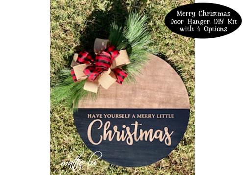 Christmas DIY Kit, DIY Kit Christmas Decoration, Christmas Craft Kit, Christmas Craft Kit for Adults, Christmas DIY Door Hanger, Mattie Lu
