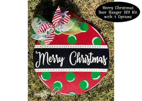 Christmas DIY Kit, DIY Kit Christmas Decoration, Christmas DIY Craft Kit, Christmas Craft Kit for Adults, Christmas Door Hanger, Mattie Lu