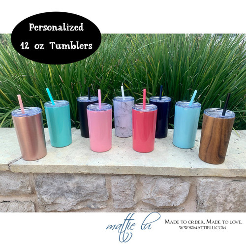 Personalized Tumbler with Straw for Kid | Skinny Mini Tumbler | Kid Tumbler Personalized | Monogrammed Tumbler | Best Personalized Gifts