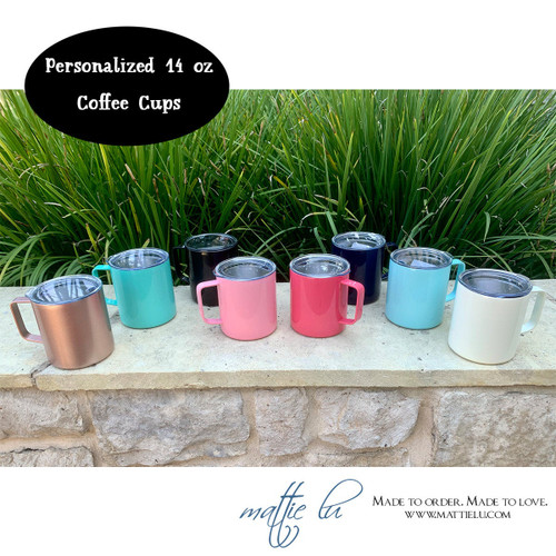 Personalized Coffee Mug | Stainless Steel Coffee Cup | Townie Coffee Mug | Monogrammed Coffee Mug | Best Personalized Gifts | Gifts for Men