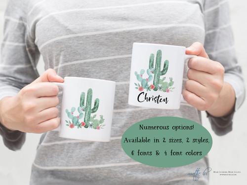 Cactus Mug | Succulent | Personalized Mug | Cactus Gift | Ceramic Mug | Best Selling Items