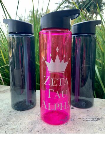Personalized Water Bottle | 24 oz Sport Bottle | Monogrammed Water Bottle | Sorority Water Bottle | Fraternity | Best Personalized Gifts