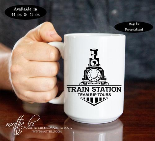 Train Station Team Rip, Yellowstone Dutton Ranch, Yellowstone TV Show, Yellowstone Mug, Rip Yellowstone Cup, Dutton Ranch Mug, Mattie Lu
