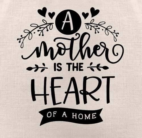 A Mother is the Heart of a Home Tote Bag | Mom Tote Bag | Tote Bags for Women | Tote Bag Personalized | Tote with Saying | Gift Idea for Mom