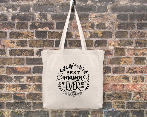 Best Mama Ever Canvas Tote Bag | Mom Tote Bag | Tote Bags for Women | Tote Bag Personalized | Tote with Saying | Gift for Mom | Shopping Bag