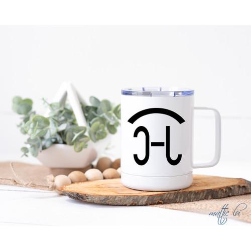 Custom Cattle Brand Insulated Coffee Travel Mug with Lid